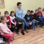 A tu nasi koledzy z kl.I wraz z wychowawczynia, p.Barbara Cieslińską